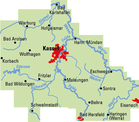 Karte Kassel Und Umgebung.Adfc Kassel Stadt Und Land E V